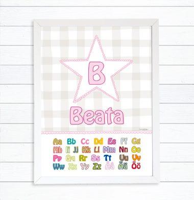 alfabetet namntavla bokstäver