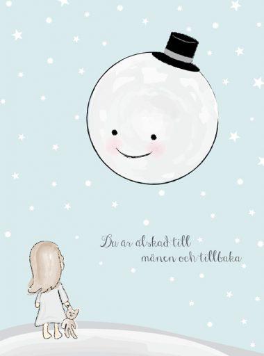 älskad till månen och tillbaka barntavla