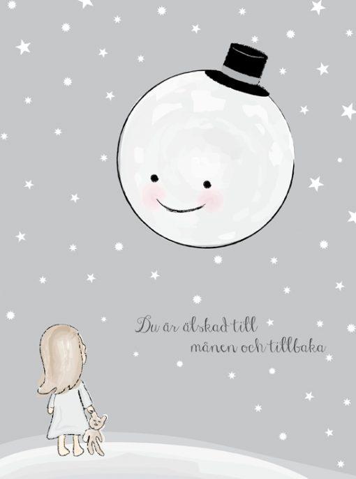 älskad till månen doppresent