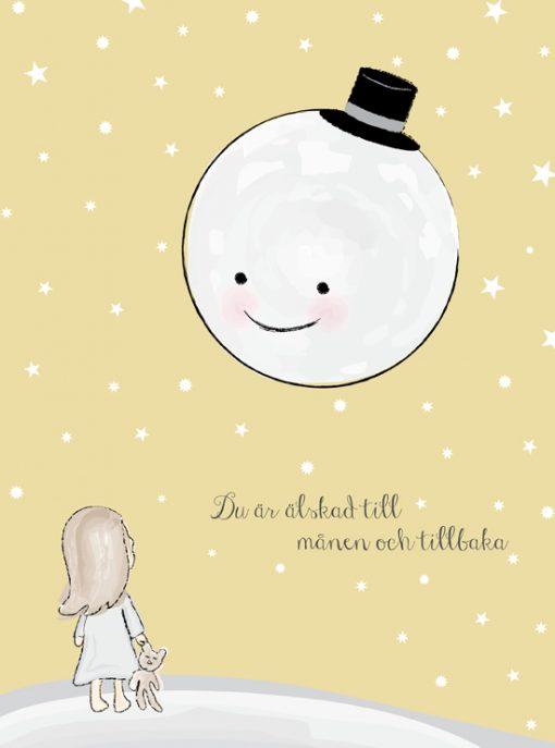 älskad till månen barntavla