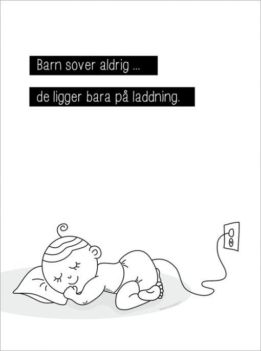 barn sover aldrig tavla