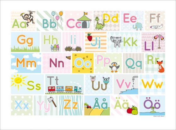 pedagogiska bokstäver tavla