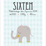 namntavla till barn elefant