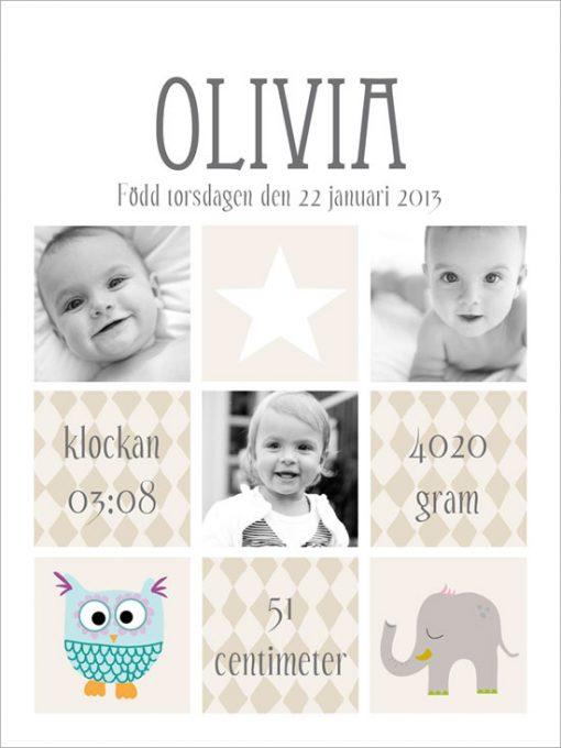 barntavla med foto namntavla