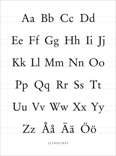 alfabet svartvit