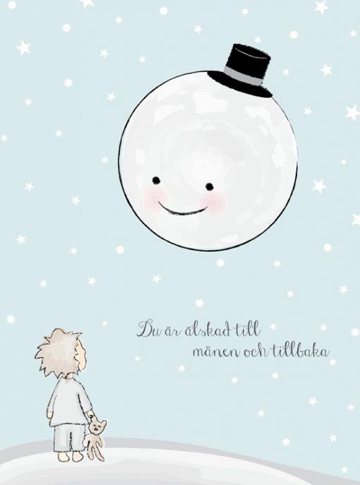älskad till månen tavla