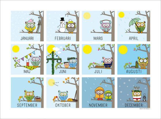 Årets månader tavla