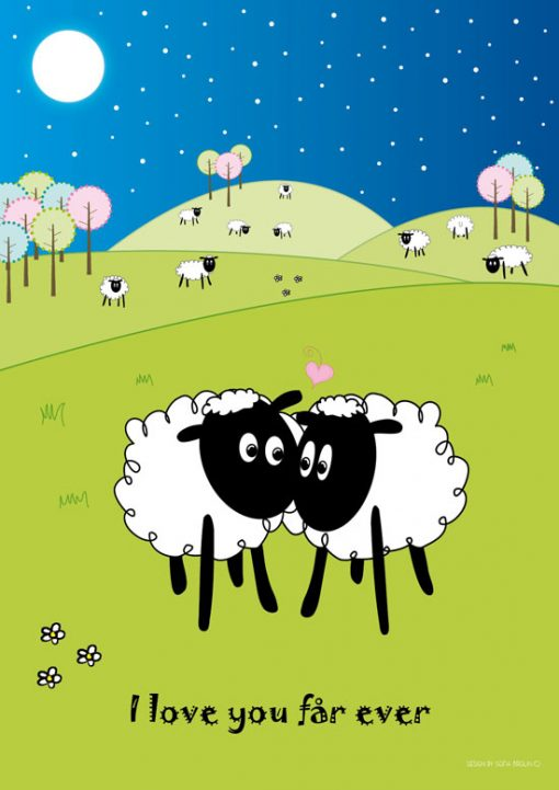 tavla med kära får