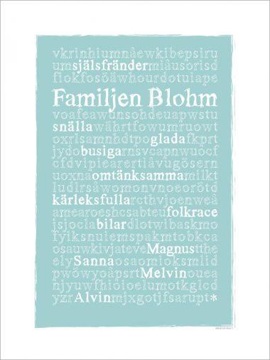 tavla för familjen med efternamn