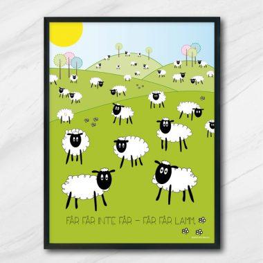 får får inte får får får lamm barntavla