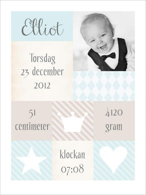 fototavla med namn till barn