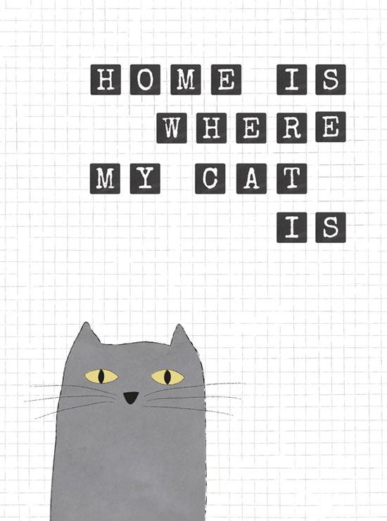 tavla med katt