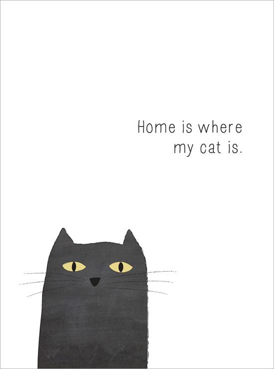 mitt hem är där katten är