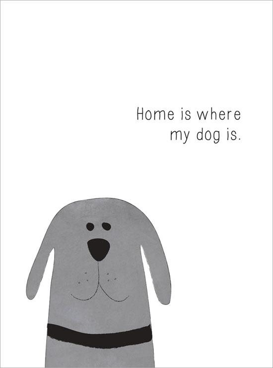 älskar hundar tavla