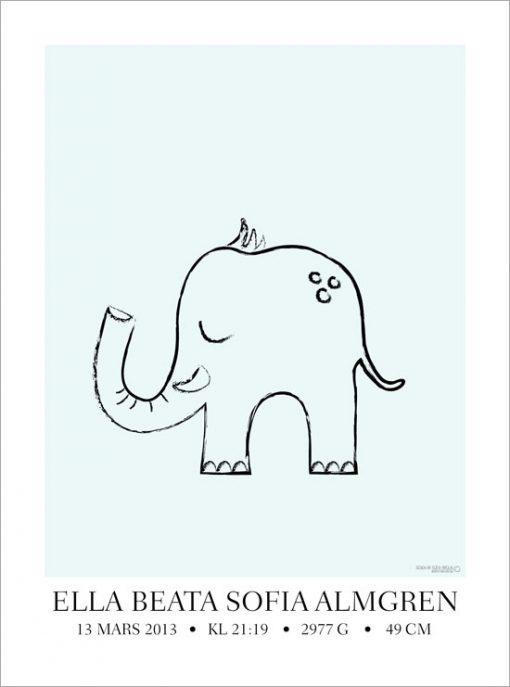 elefanttavla namntavla