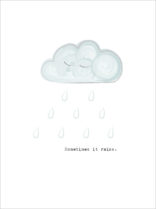 moln tavla sometimes it rains