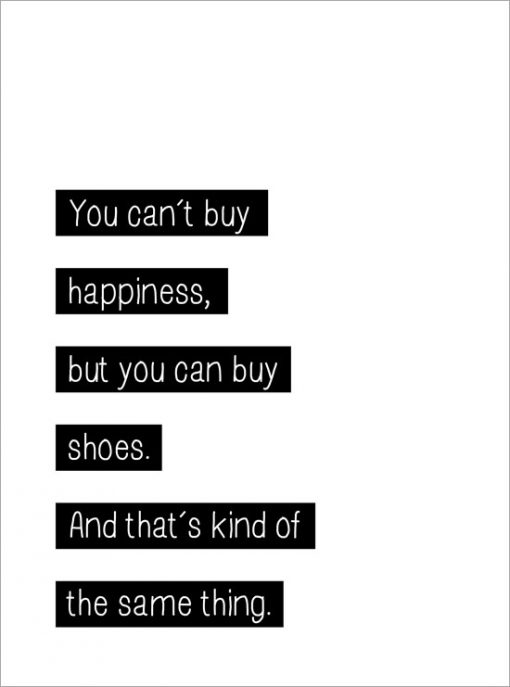 you cant buy happiness tavla