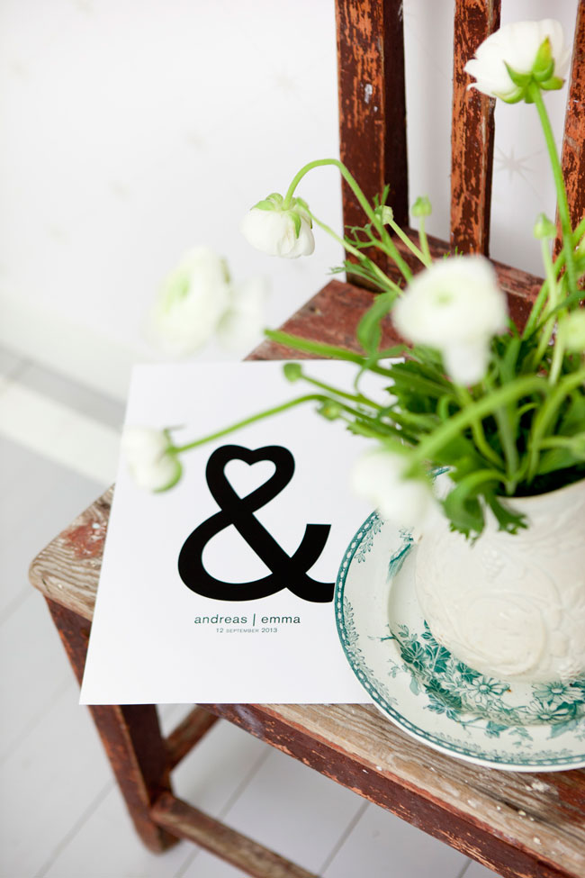 Bröllop tavla
