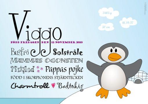 pingvin namntavla