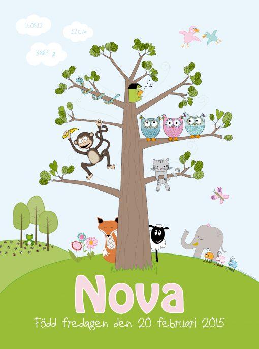 barntavla med djur