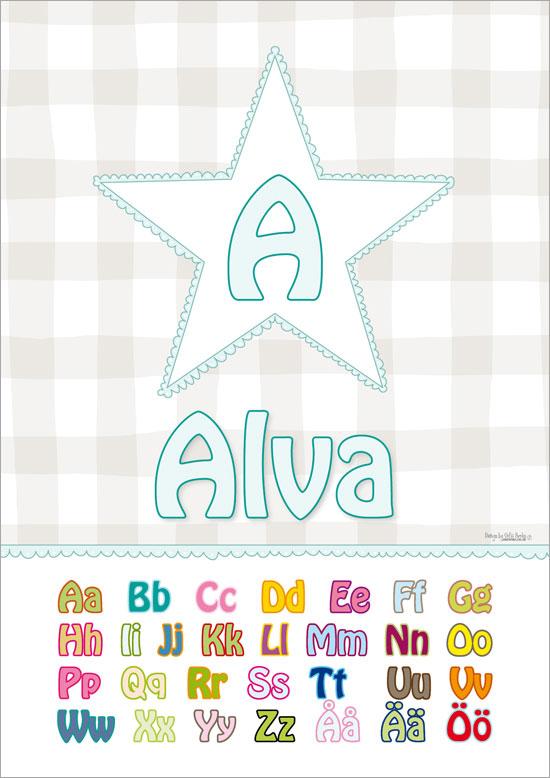 alfabetet namntavla
