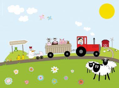 bondgård barntavla