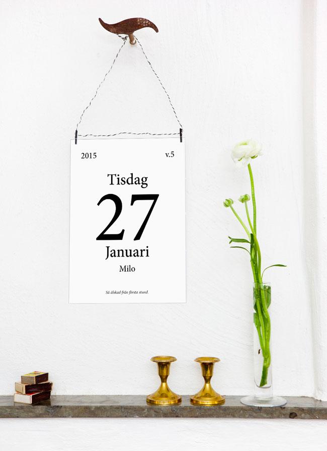 kalender tavla