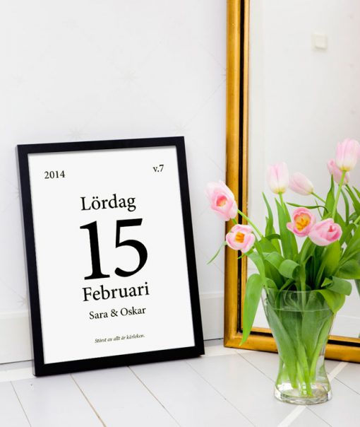 bröllopstavla datumtavla