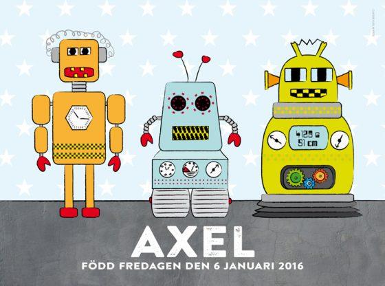Barntavla med robotar