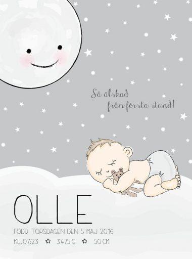 älskad från första stund barntavla