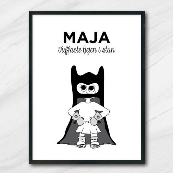 Batman superhjälte barntavla