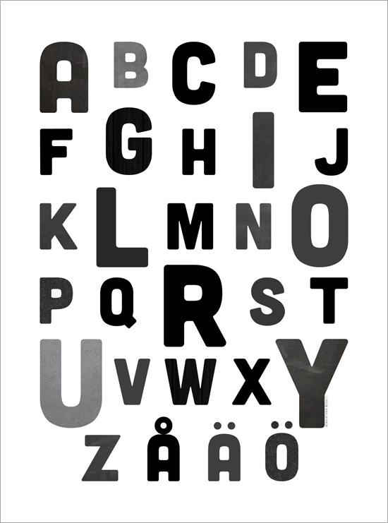 svart alfabet