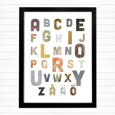 snyggt alfabet