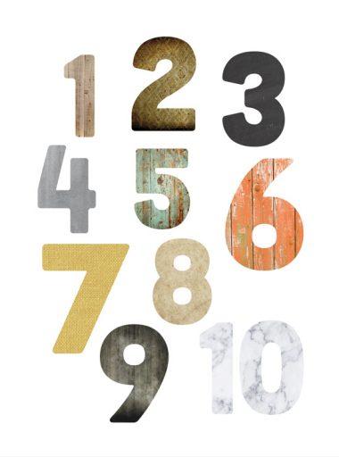tavla med snygga siffror