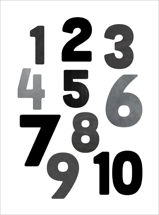 svarta siffror tavla