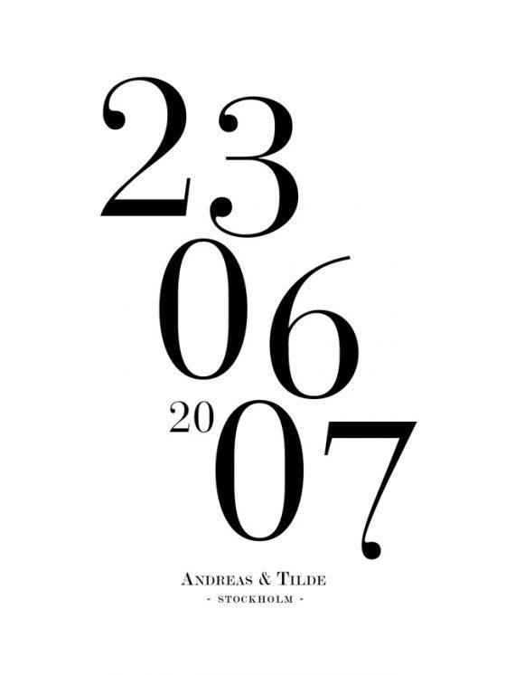 datum poster
