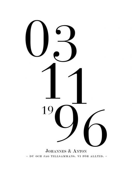 datum print tavla