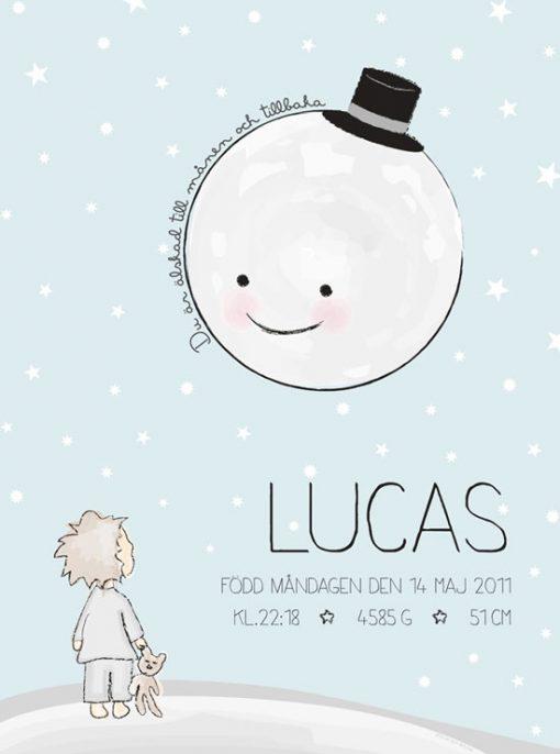 Älskad till månen - doppresent