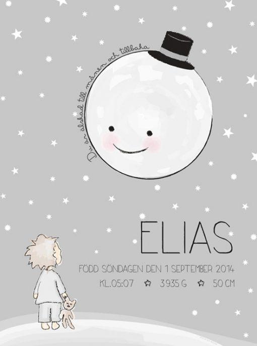Älskad till månen - barntavla