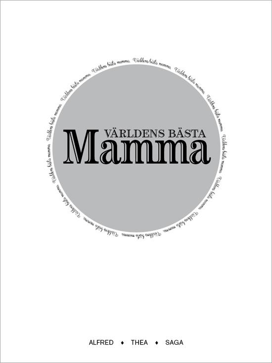 Världens bästa mamma tavla
