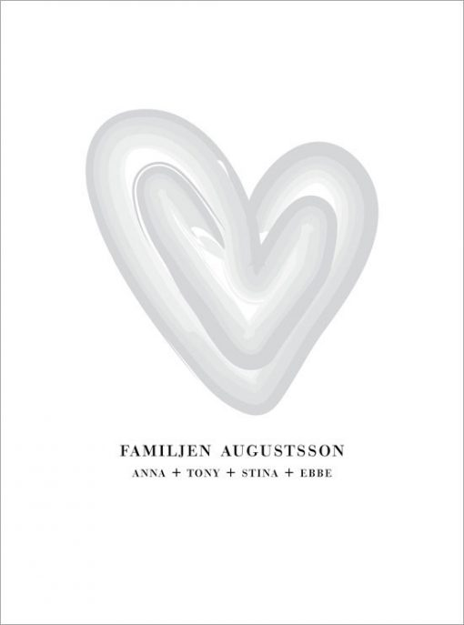 Familjetavla tavla med efternamn